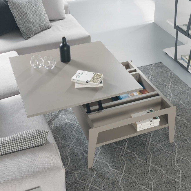 Tavolino da salotto moderno piccolo con contenitore