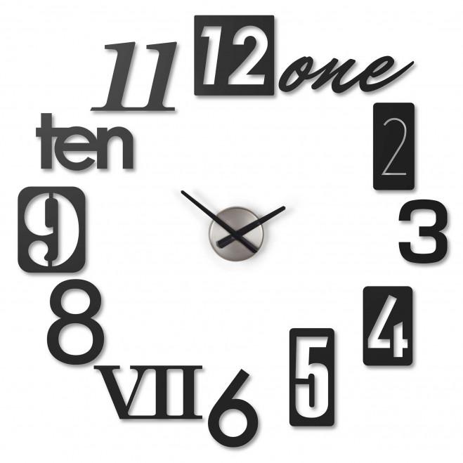 Orologio da parete moderno con numeri Numbra
