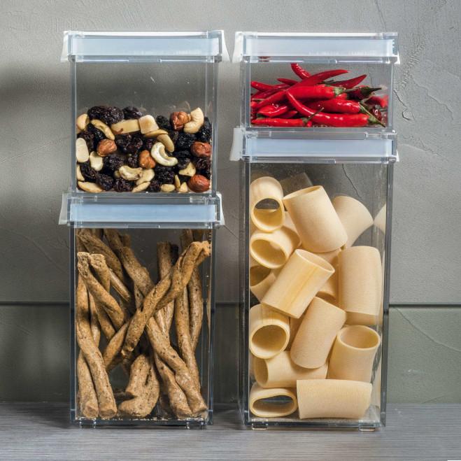 Barattolo per alimenti con tappo salvafreschezza piccolo Click&Fresh