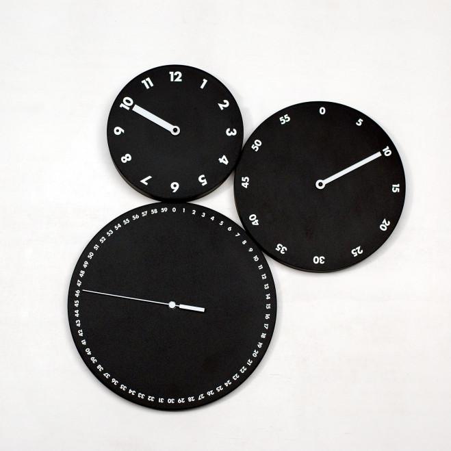 """Orologio da parete con ore minuti e secondi separati """"H:M:S:"""""""