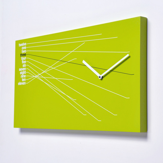 Orologio da parete moderno in legno Timeline