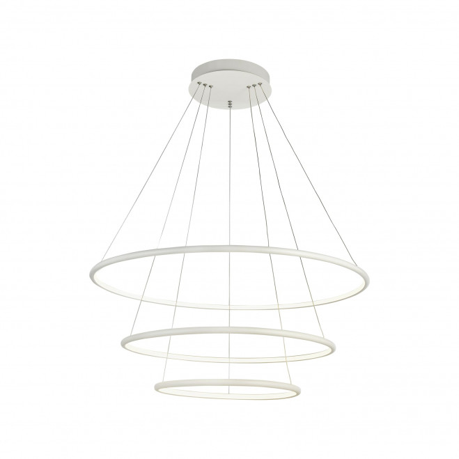 Sospensione moderna a LED con tre fasci di luce per ufficio e salone