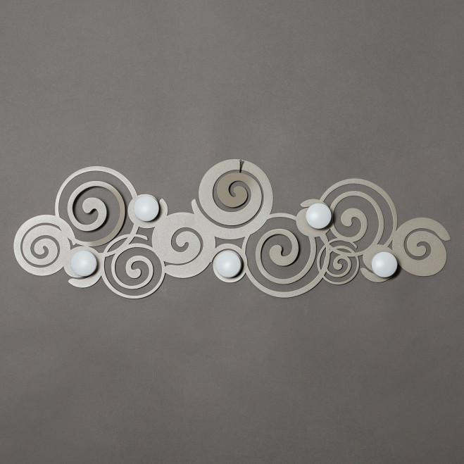 Appendiabiti da parete moderno in metallo