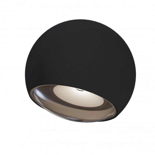 Applique da parete a LED per esterno con diffusore rotondo dal design moderno