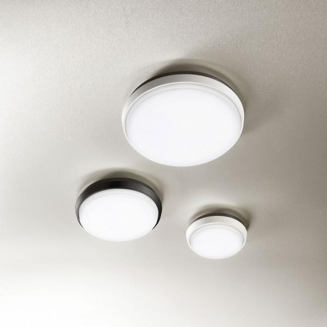 Lampada a soffitto a LED per esterno con struttura moderna in alluminio