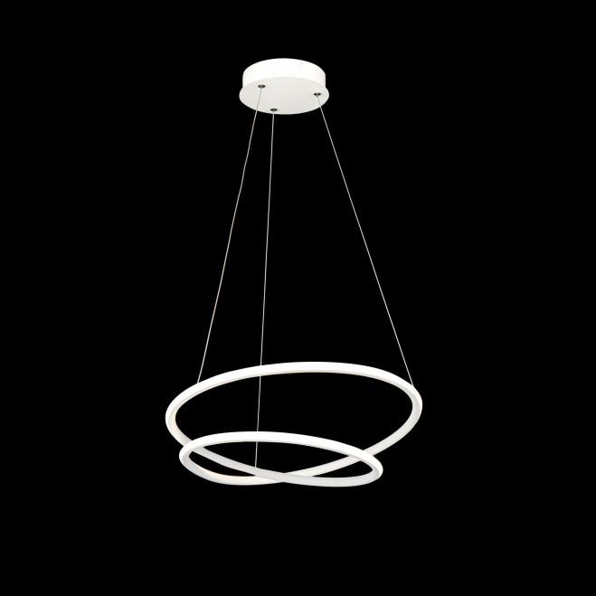 Sospensione moderna a LED con anelli a spirale piccola