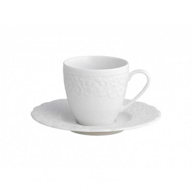 Tazzina da caffè con piattino in porcellana