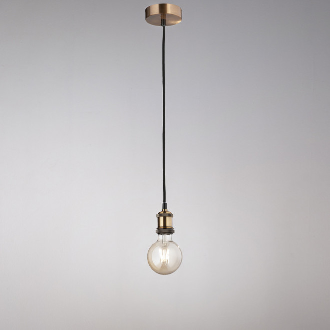 Lampada a sospensione di design moderno in metallo ottone brunito