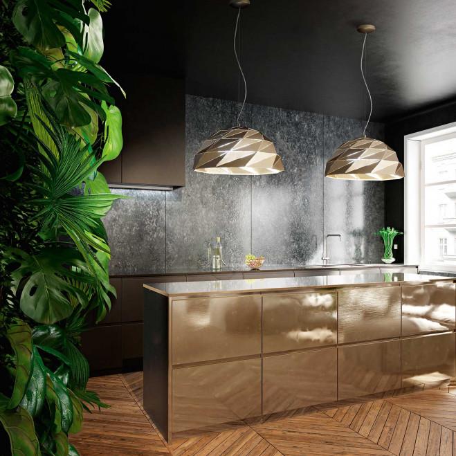 """Sospensione in stile moderno in metallo verniciato regolabile in altezza """"Tilt"""""""