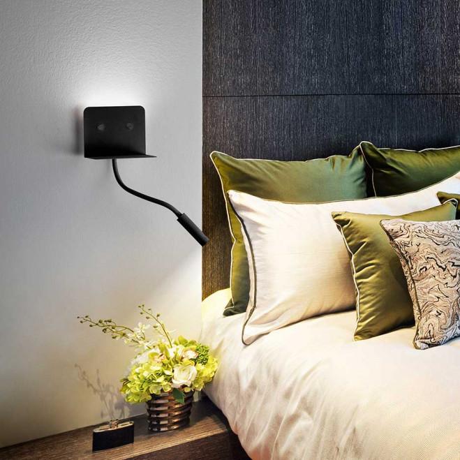 """Applique di design moderno a LED flessibile in metallo con porta usb """"Level"""""""