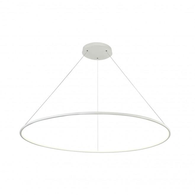 Sospensione moderna a LED in metallo con cerchio grande regolabile