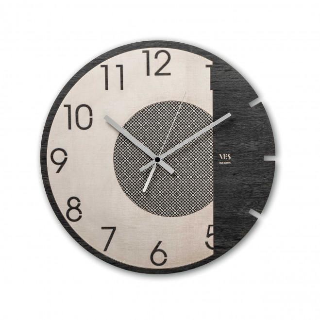 """Orologio da parete in legno per salotto dal design moderno """"Dark Moon"""""""
