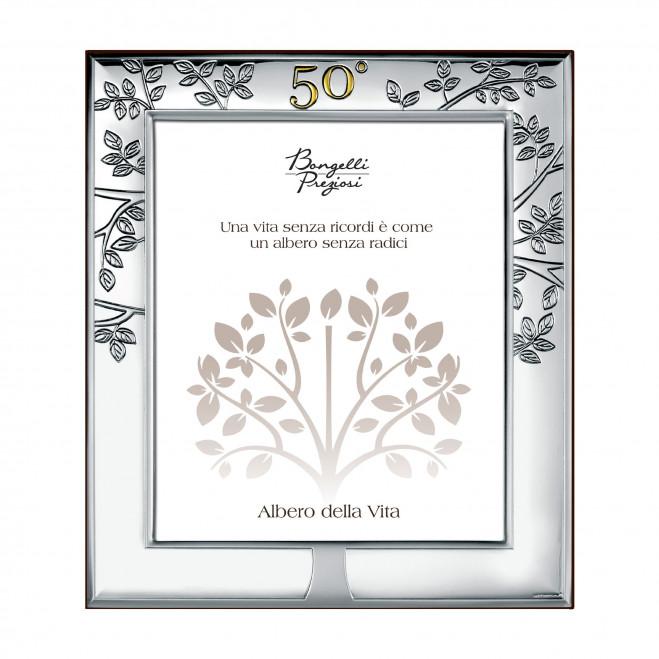Portafoto in argento in stile classico per 50° anniversario