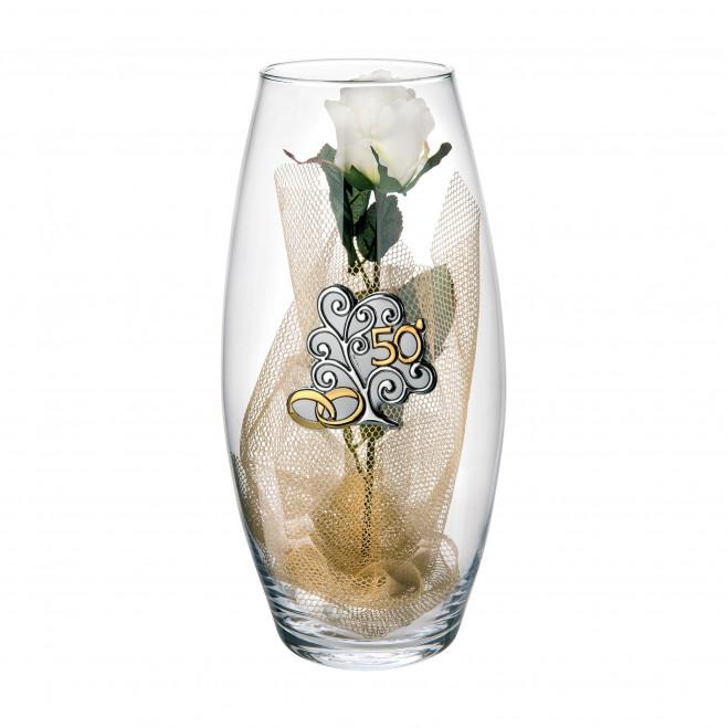 Vaso Amarilis in vetro grande 50° anniversario