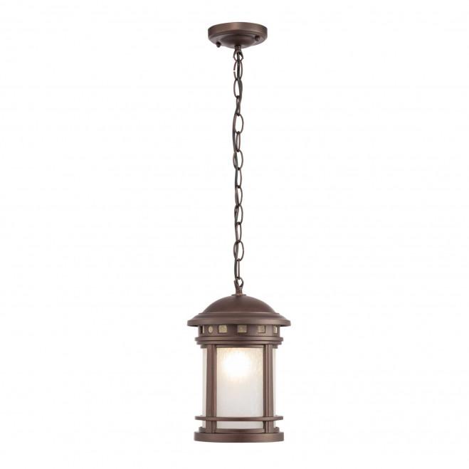 Illuminazione a sospensione da esterno con diffusore in vetro dal design moderno