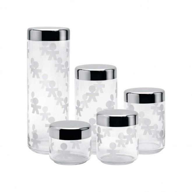 Barattolo di vetro ermetico