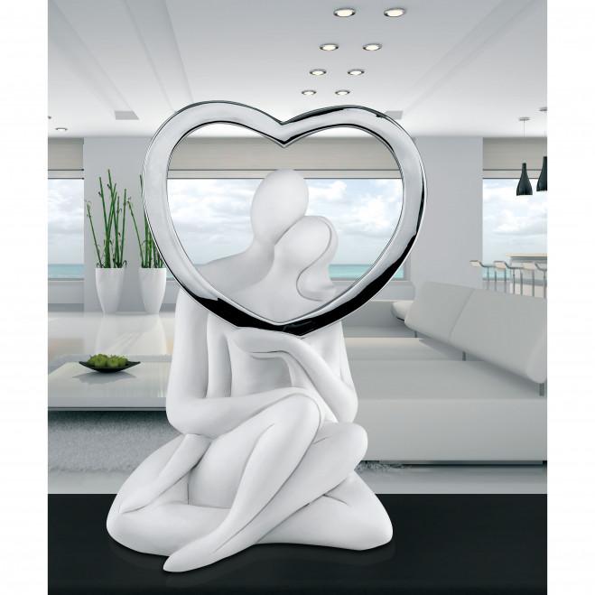 Statuina moderna con Innamorati Seduti