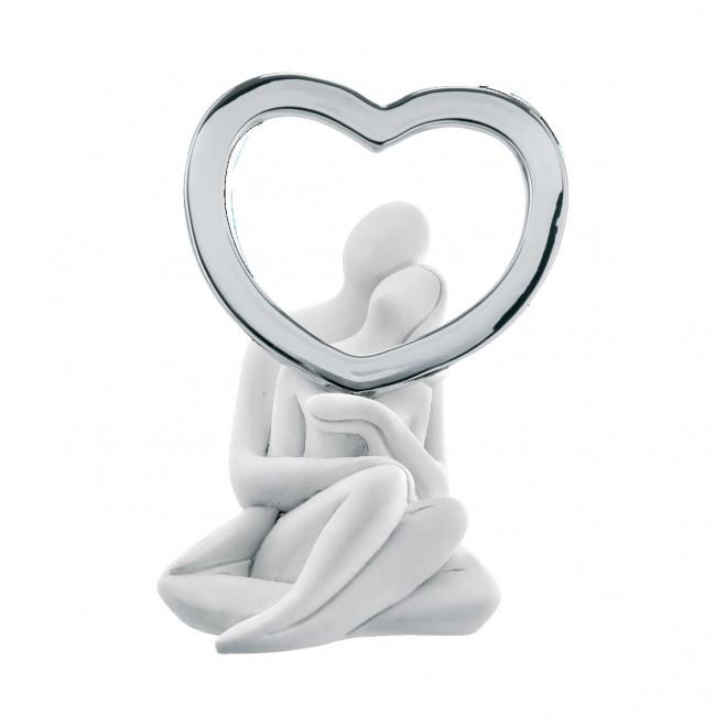 Statuina con innamorati e cuore Infinity
