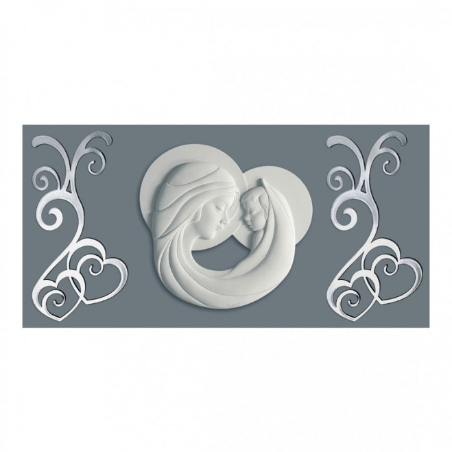 Capezzale Maternità Bianco con pannello 80x40
