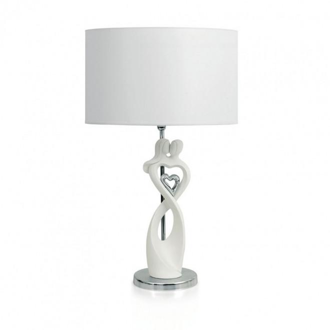 Lampada da tavolo con scultura Coppia Cuore