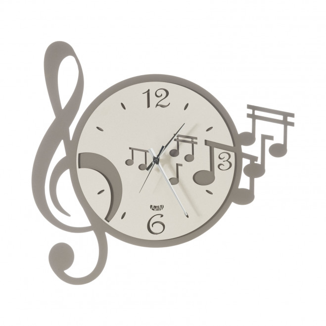 Orologio da parete moderno con chiave e note musicali