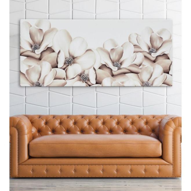 Quadro moderno da parete Fiori d'estate 160x70