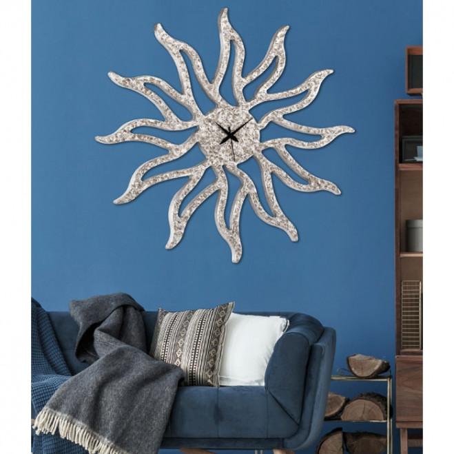 Orologio da parete in legno moderno Sunny Silver