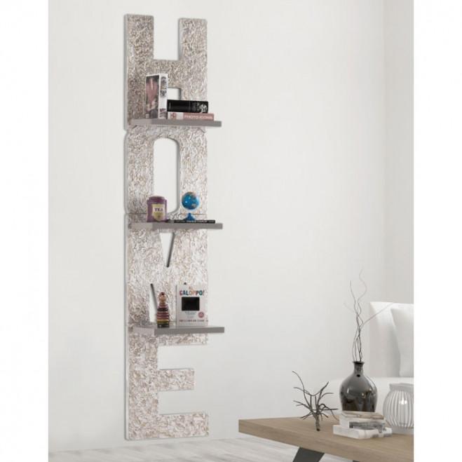 Libreria da parete moderna in legno Matter Home 40x190