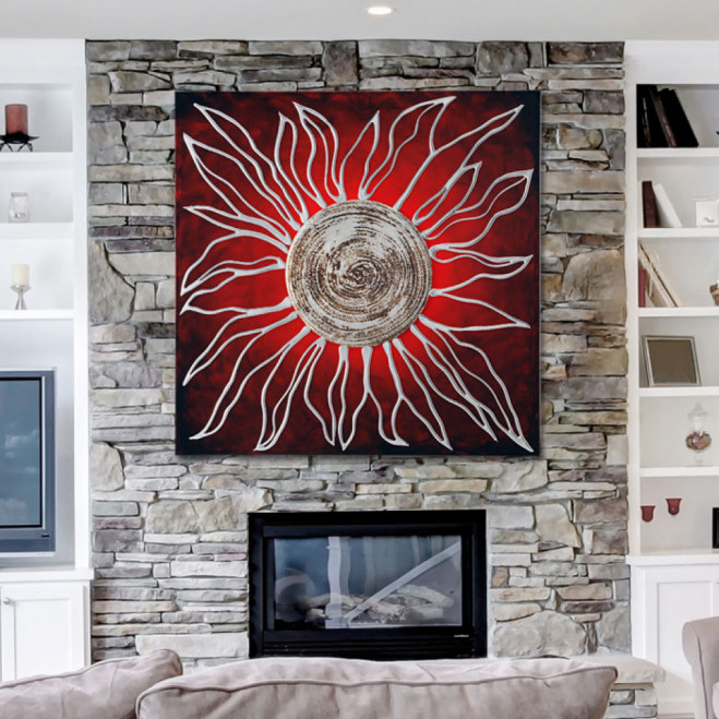 Pannello Sole Rosso 100x100