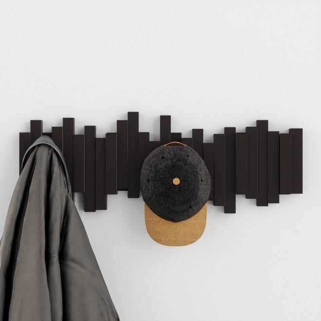Appendiabiti da parete con ganci ribaltabili Moderno