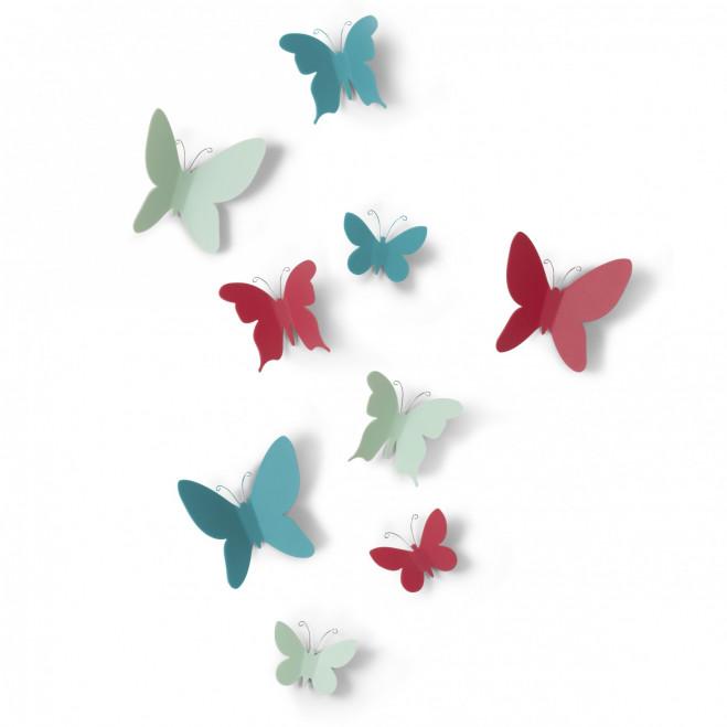 Farfalle decorative da parete Mariposa Set 9pz