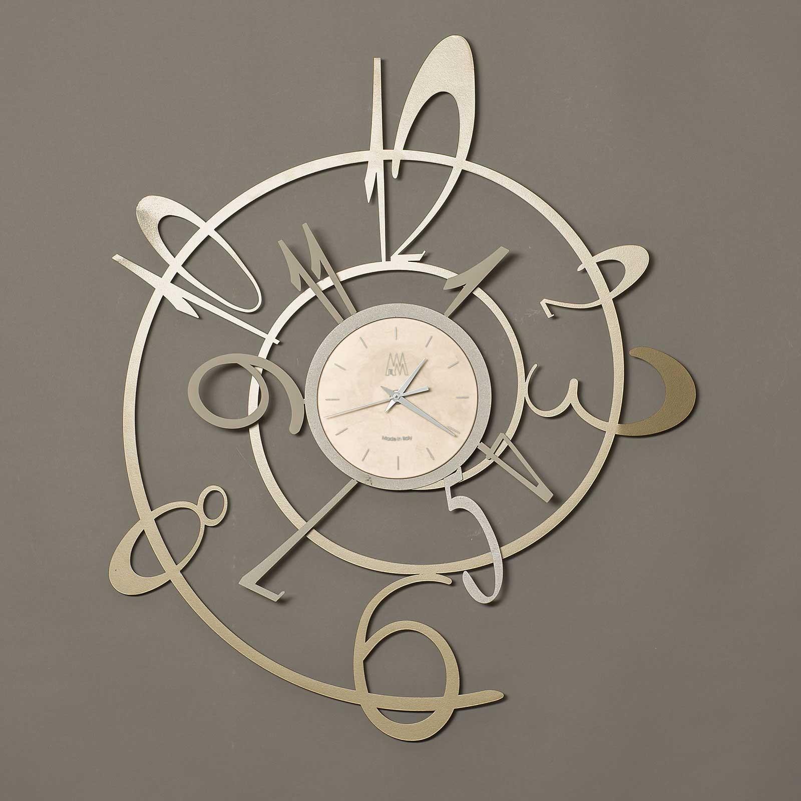 Arti e Mestieri Orologio a parete in metallo collezione New George