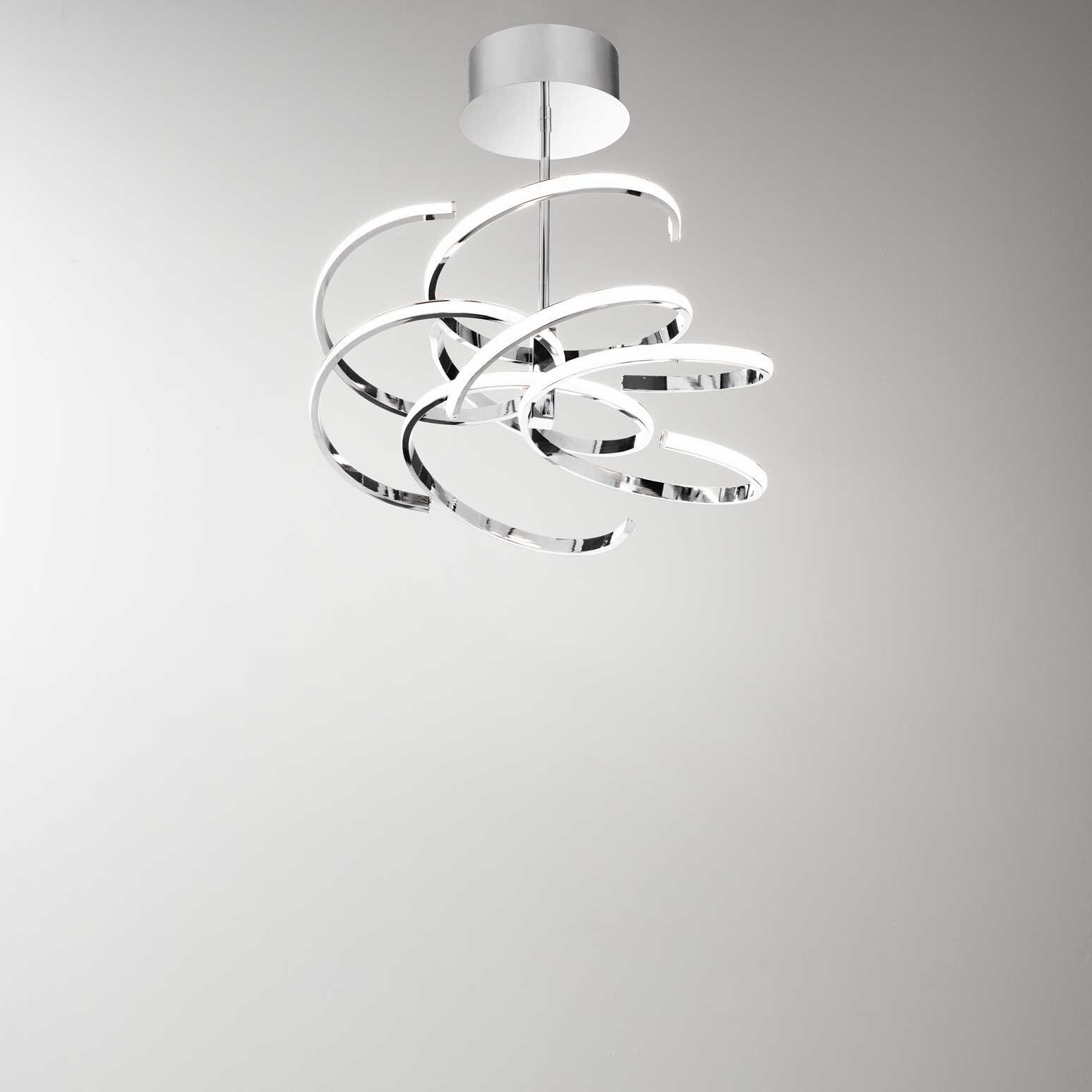 Plafoniera Design Moderno Camera Da Letto.Perenz Plafoniera A Led Di Design Moderno In Metallo Per Salotto E