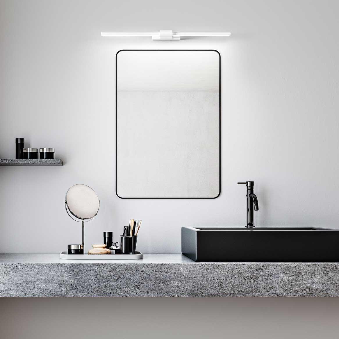 """Applique Specchio Bagno Moderno perenz applique da parete a led in stile moderno orientabile in metallo  """"line"""" grande - 16w - 3000k luce calda"""