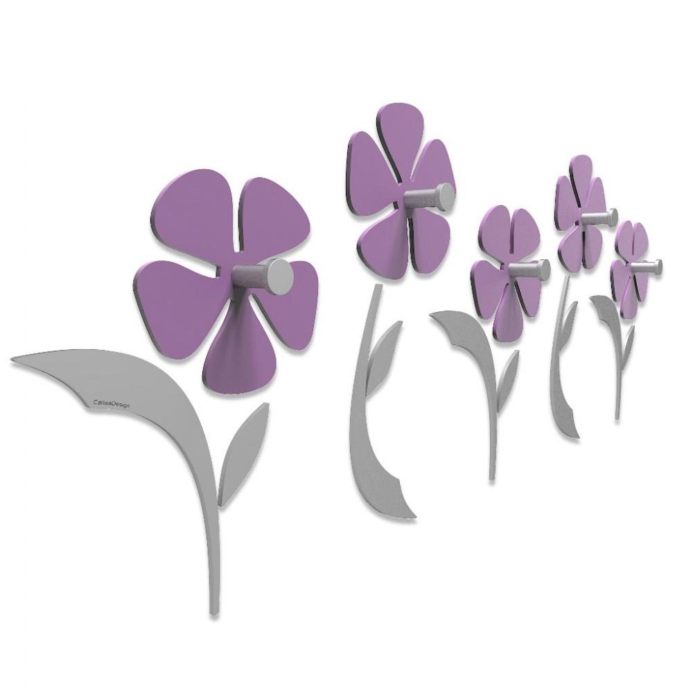 Viola Appendiabiti da parete Fiorello CalleaDesign Colore