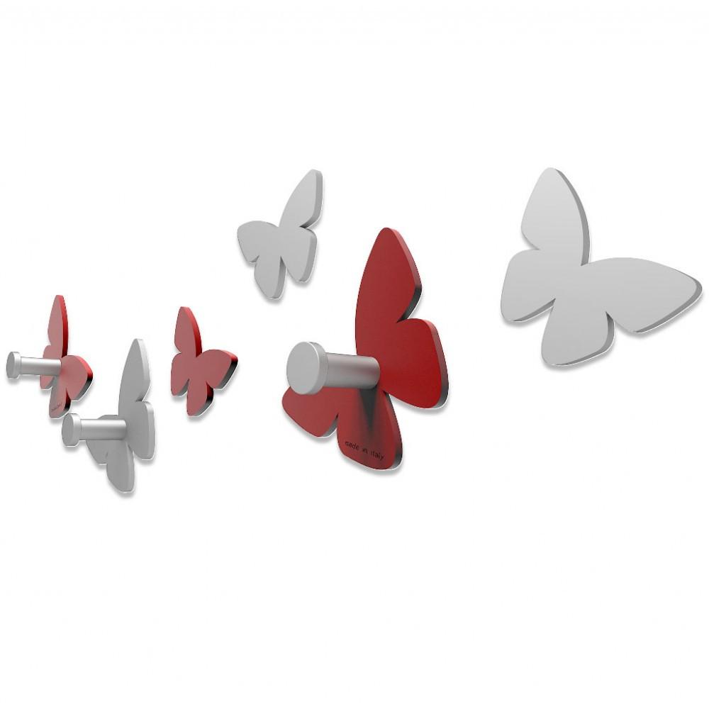 Abbronzato Portachiavi da Parete Farfalle CalleaDesign Colore