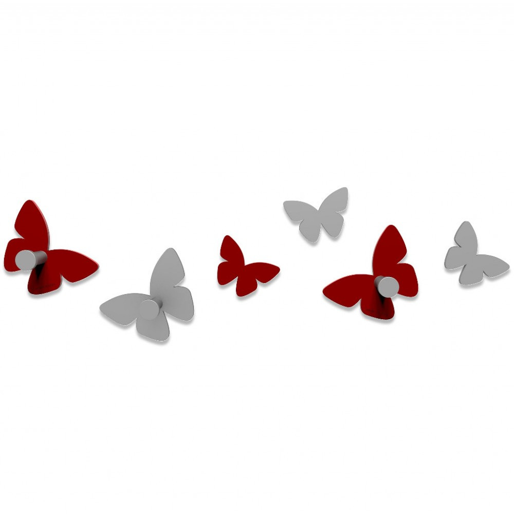 Appendiabiti Da Parete Farfalle.Calleadesign Appendiabiti Da Parete In Legno Farfalla