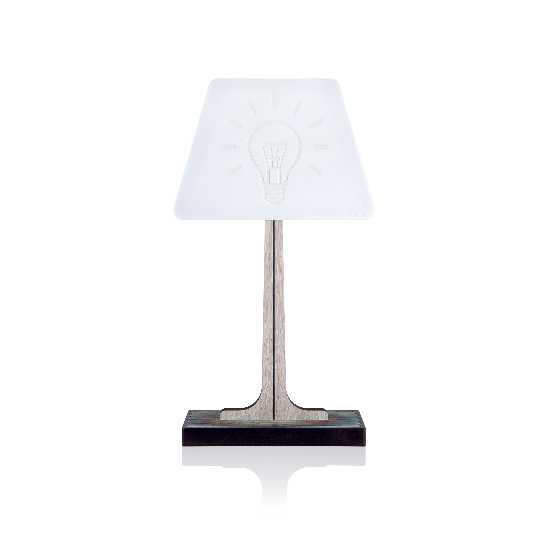 Faretti Da Incasso Legno ves design lampada da tavolo in legno di design moderno con lampada a led  klin - 4000k luce naturale