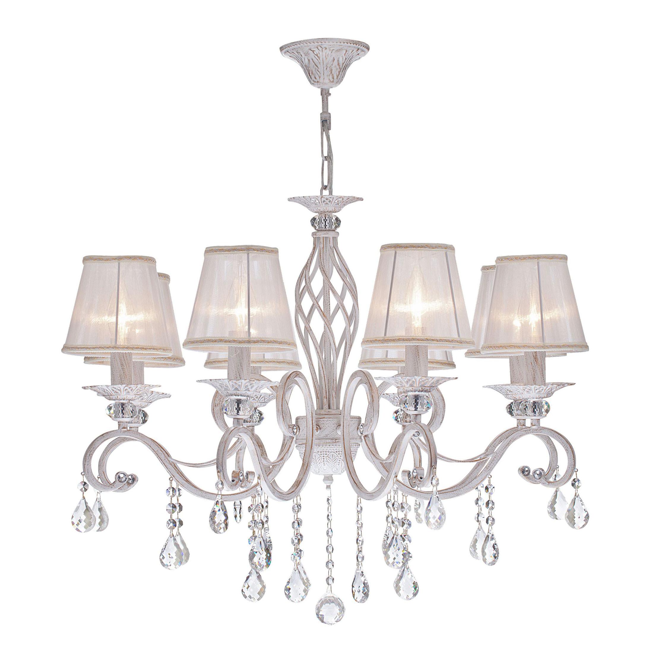 Lampadari Con Bottiglie Di Vetro maytoni lampadario con pendenti in cristallo a otto braccia in stile  classico grace - 40w