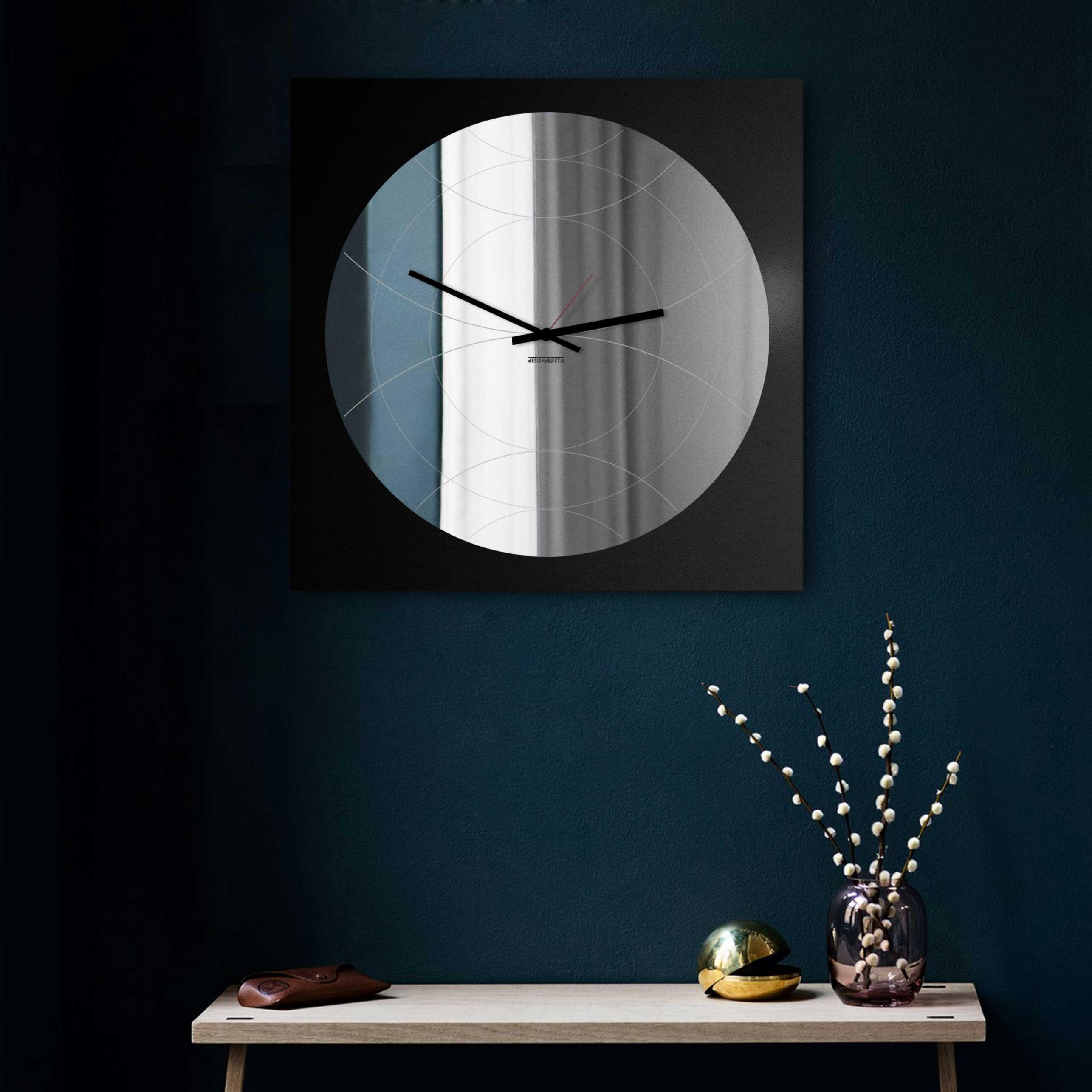 """Pareti A Specchio Design design object orologio da parete specchiato stile moderno design italiano  """"specchio narciso"""""""