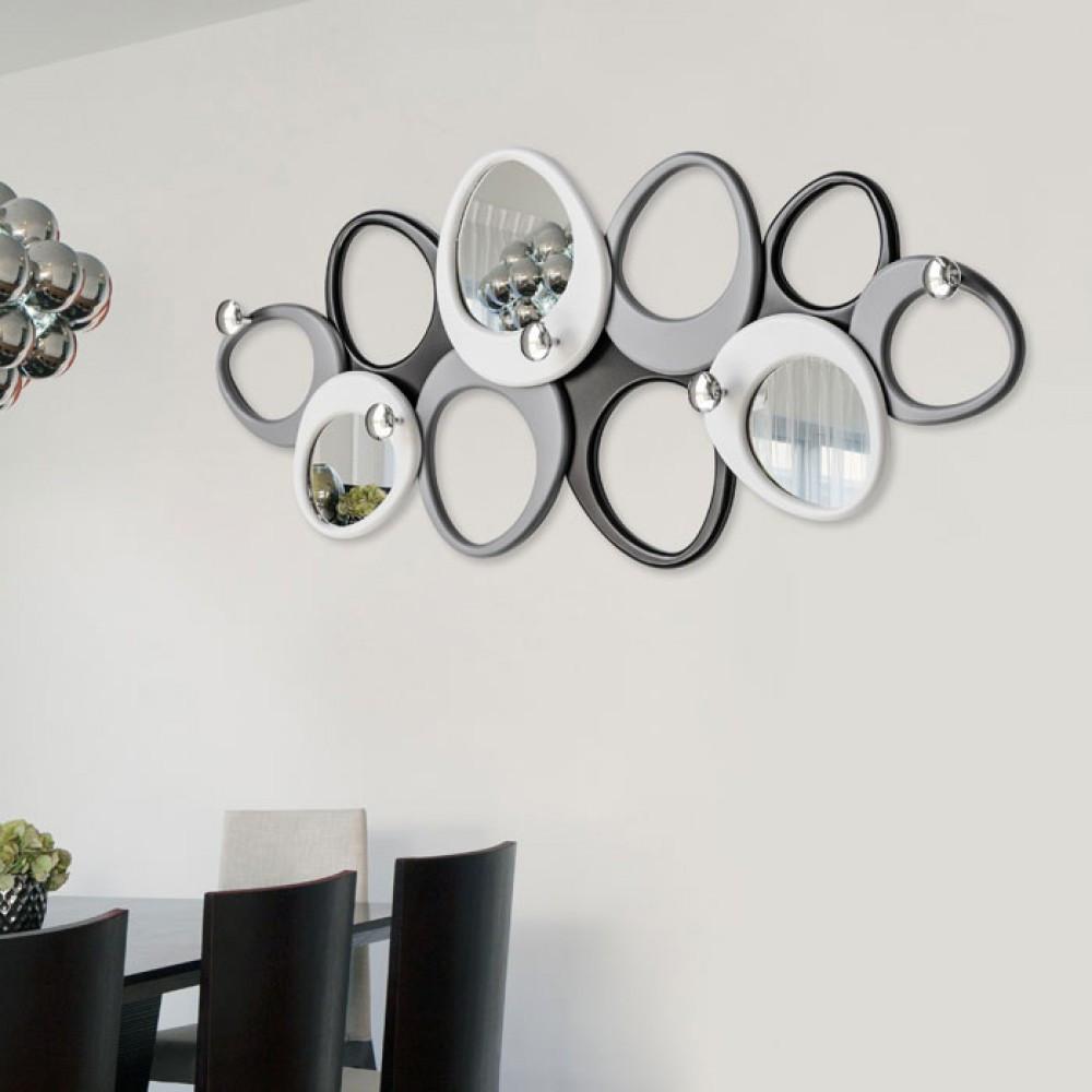 pintdecor linea molecole appendiabiti da parete con specchi - Appendiabiti Da Camera Da Letto