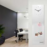"""Orologio da parete verticale e lavagna magnetica e accessori per foto """"POST IT"""""""