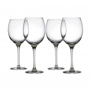 Alessi Set di 4 bicchieri per vini bianchi in vetro cristallino Mami XL Trasparente    SG119/1S4