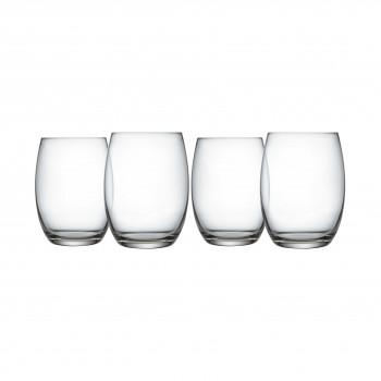 Alessi Set di 4 bicchieri per long drink in vetro cristallino Mami XL Trasparente    SG119/3S4