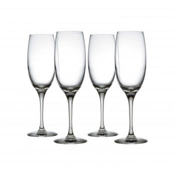 Alessi Set di 4 bicchieri per spumanti e champagne in vetro cristallino Mami XL Trasparente    SG119/9S4