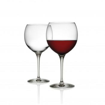 Alessi Set di 4 bicchieri per vini rossi in vetro cristallino Mami XL Trasparente    SG119/0S4