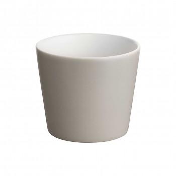 Alessi Set 4 pezzi bicchieri in ceramica stoneware Tonale Grigio Scuro    DC03/41LG