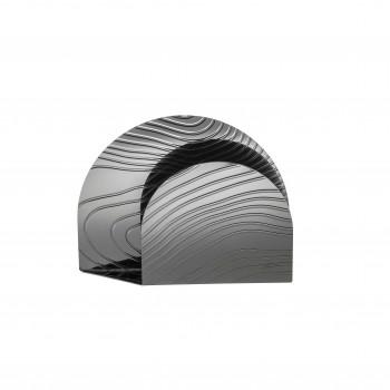 Alessi Portatovaglioli in acciaio inossidabile con decoro a rilievo Veneer     PU08-