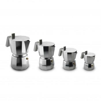 Alessi Caffettiera espresso in fusione di alluminio Moka Alluminio    DC06