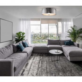 Maytoni Lampada da soffitto piccola in metallo in stile moderno con 3 luci Ripple Cromato    MOD096CL-03CH